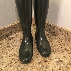 HUNTER Boots Hunter Green 8 EUC